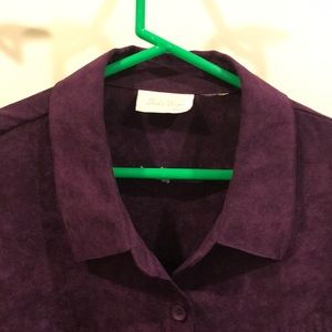 Deep purple suede feeling blouse
